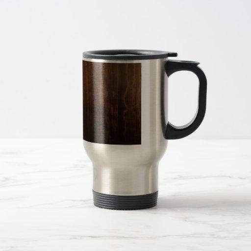 Diseño de madera oscuro antiguo tazas de café
