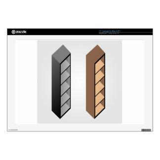 Diseño de madera simple del estante calcomanía para 43,2cm portátil