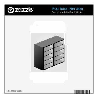 Diseño de madera simple del estante iPod touch 4G skin