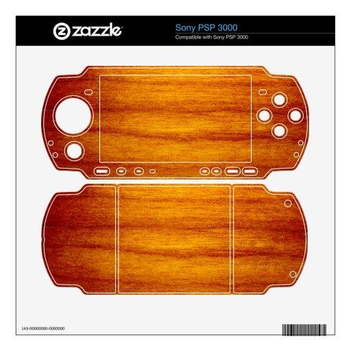 Diseño de madera skin para el PSP 3000