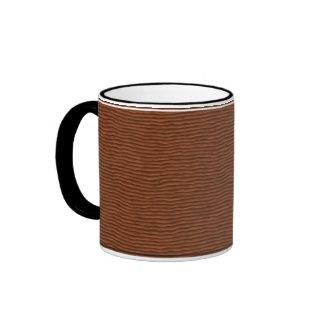 Diseño de madera taza de café