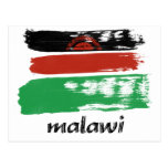 Diseño de Malaui de la bandera Tarjeta Postal