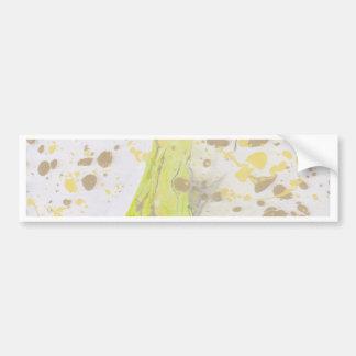 Diseño de mármol pegatina de parachoque