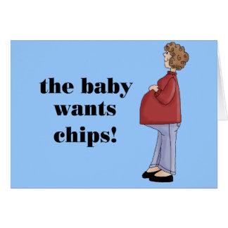 Diseño de maternidad divertido tarjeta de felicitación