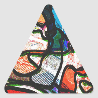 """¡Diseño de """"mi manera""""! ¡Donde sucede todo! Pegatina Triangular"""