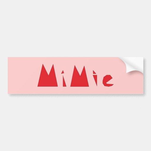 Diseño de Mimie Etiqueta De Parachoque