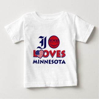 Diseño de Minnesota Playera De Bebé