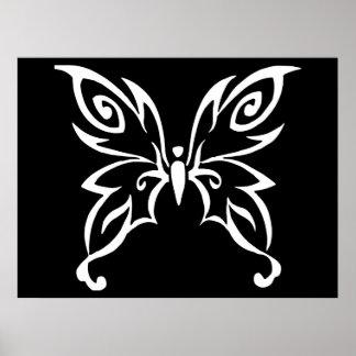 Diseño de moda de la mariposa impresiones