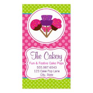 Diseño de moda de la panadería de la magdalena del tarjetas de visita