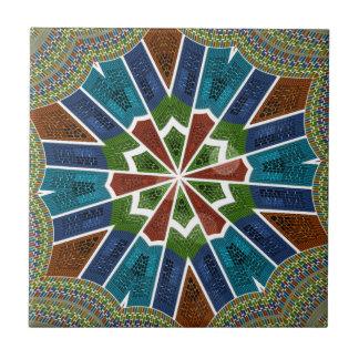 Diseño de moda de la sari azulejo cuadrado pequeño