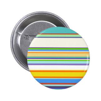 Diseño de moda de Stripey del trullo Pin Redondo De 2 Pulgadas