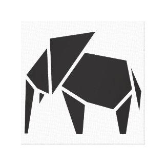 Diseño de moda negro del símbolo del elefante impresiones en lona estiradas