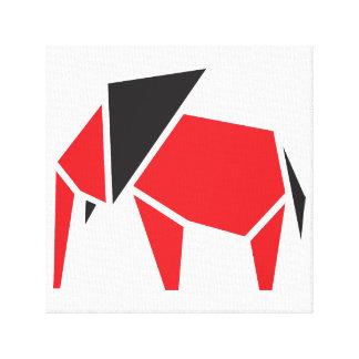 Diseño de moda negro y rojo del símbolo del impresión en lienzo estirada