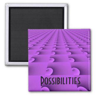 Diseño de motivación - posibilidades imán cuadrado