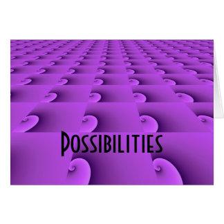 Diseño de motivación - posibilidades tarjeta pequeña