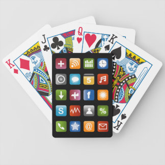 Diseño de naipes falso de los apps del smartphone baraja cartas de poker