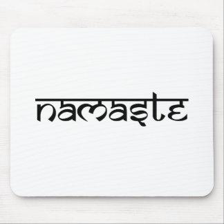 Diseño de Namaste en estilo sánscrito Alfombrilla De Ratones