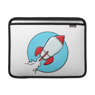 Diseño de nave de Rocket del dibujo animado Funda MacBook