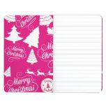 Diseño de Navidad del día de fiesta de las rosas f Cuadernos Grapados