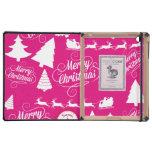 Diseño de Navidad del día de fiesta de las rosas f iPad Cárcasas