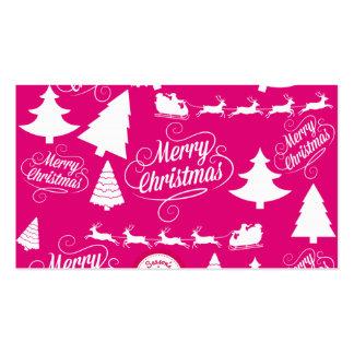 Diseño de Navidad del día de fiesta de las rosas f Tarjetas De Visita