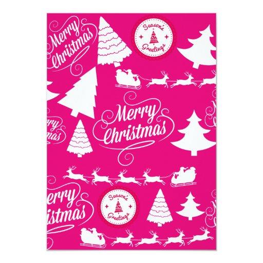 Diseño de Navidad del día de fiesta de las rosas Comunicado Personal