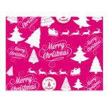 Diseño de Navidad del día de fiesta de las rosas Postal