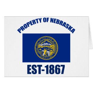 Diseño de Nebraska Tarjeta De Felicitación