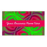 Diseño de negocio colorido del fractal tarjetas de visita