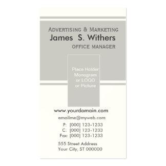 Diseño de negocio contemporáneo moderno tarjetas de visita
