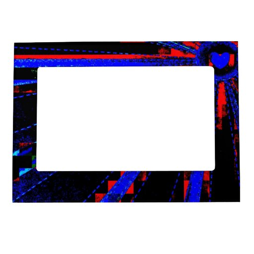 Diseño de neón abstracto enrrollado impresionante  marcos magneticos de fotos