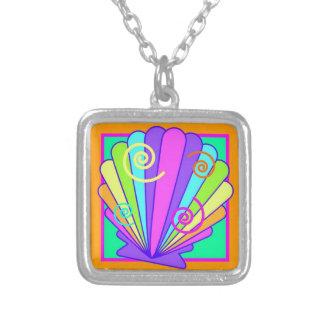 Diseño de neón brillante del seashell