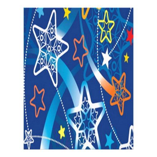 Diseño de neón de las estrellas membrete a diseño