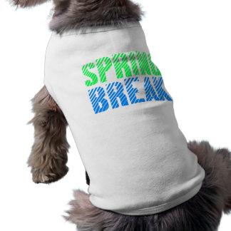 Diseño de neón de las vacaciones de primavera playera sin mangas para perro
