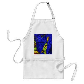 Diseño de neón del arte del extracto del amarillo  delantal