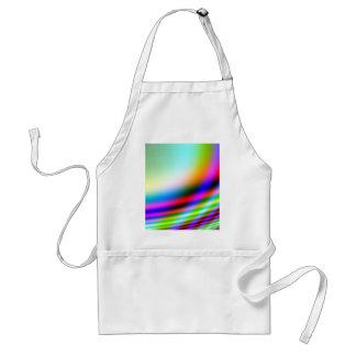 Diseño de neón del extracto de los colores delantal