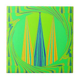 Diseño de neón geométrico nervioso azulejo cuadrado pequeño