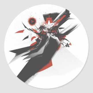 Diseño de Nihonjin Etiquetas Redondas