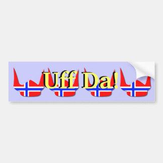 Diseño de Noruega de la bandera de Viking del casc Pegatina De Parachoque