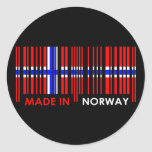Diseño de NORUEGA de los colores de la bandera de Etiqueta Redonda