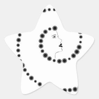 Diseño de Nouveau del arte Pegatina En Forma De Estrella