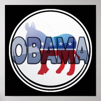 Diseño de Obama Demócrata Póster