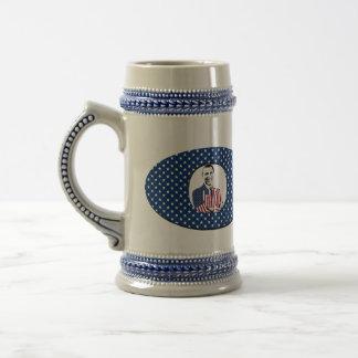 Diseño de Obama Jarra De Cerveza