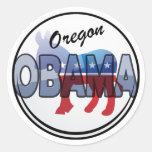 Diseño de Oregon Obama Demócrata Pegatina Redonda
