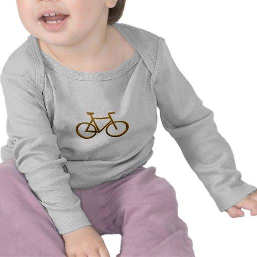 Diseño de oro de la bicicleta camisetas
