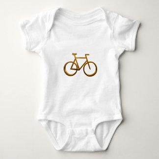 Diseño de oro de la bicicleta playeras