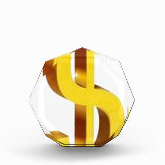 Diseño de oro de la muestra de dólar