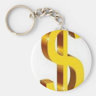 Diseño de oro de la muestra de dólar llavero redondo tipo pin