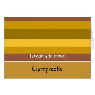 Diseño de oro de la raya de la quiropráctica tarjeta pequeña