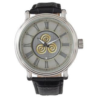 Diseño de oro de Triskele Reloj De Mano